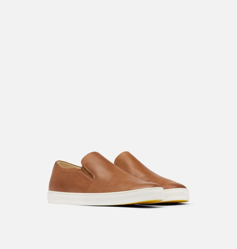 CARIBOU™ MOD SLIP WP | 215 | 12 Mens Caribou™ Mod Slip-On WP, Brown Flora, Sea Salt, 3/4 front