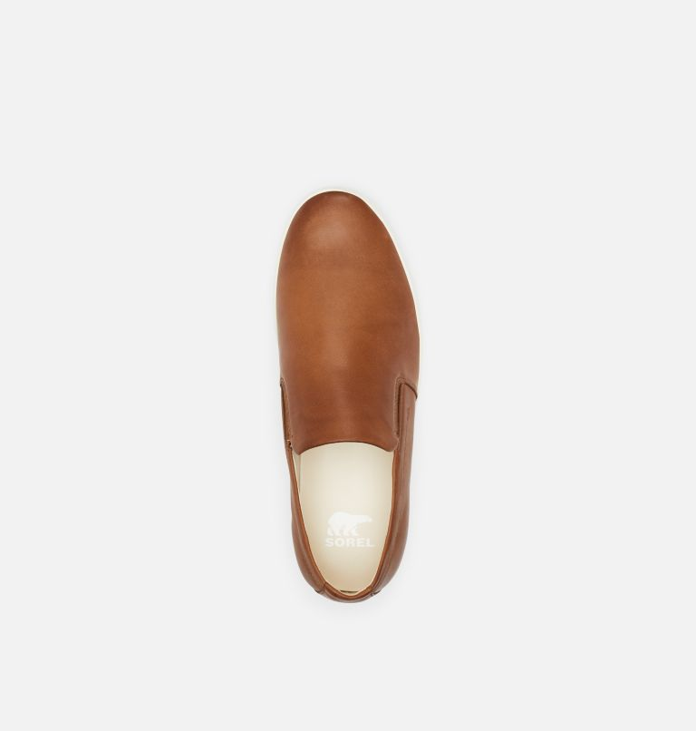 CARIBOU™ MOD SLIP WP | 215 | 11.5 Mens Caribou™ Mod Slip-On WP, Brown Flora, Sea Salt, top