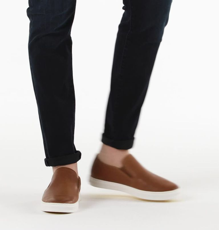 CARIBOU™ MOD SLIP WP | 215 | 11.5 Mens Caribou™ Mod Slip-On WP, Brown Flora, Sea Salt, video