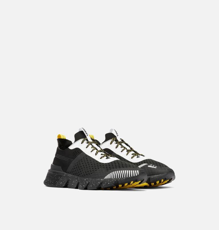 KINETIC™ RUSH MESH | 010 | 9.5 Mens Kinetic™ Rush Mesh Sneaker, Black, White, 3/4 front