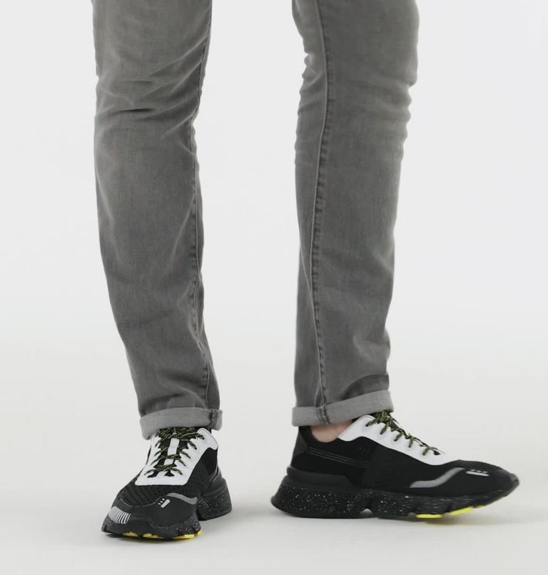 KINETIC™ RUSH MESH | 010 | 9.5 Mens Kinetic™ Rush Mesh Sneaker, Black, White, video