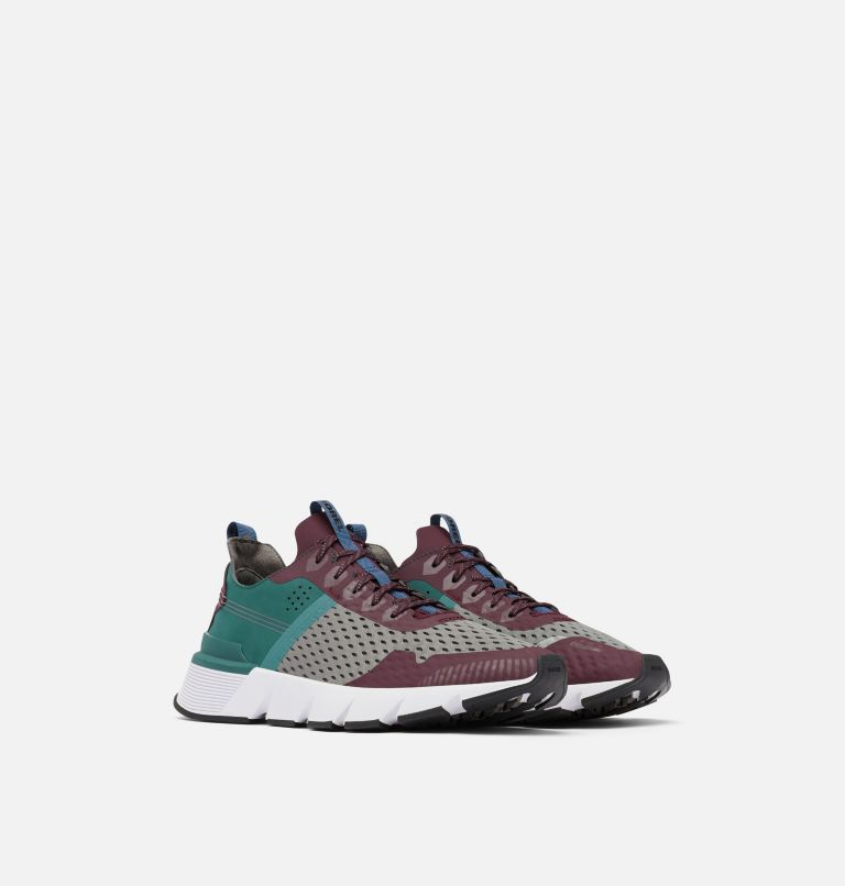 KINETIC™ RUSH MESH | 543 | 7.5 Mens Kinetic™ Rush Mesh Sneaker, Epic Plum, Quarry, 3/4 front