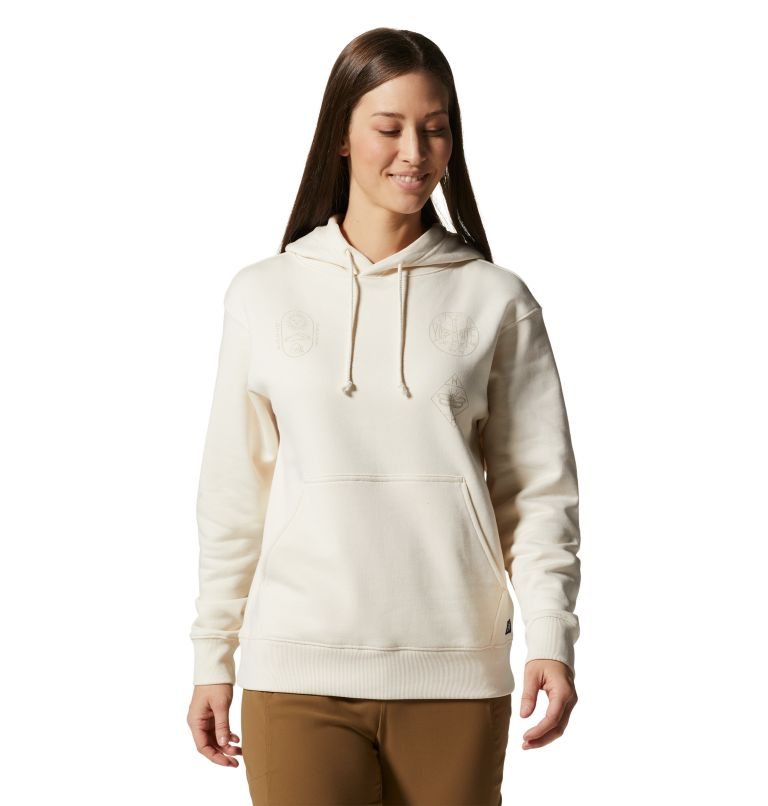 CA National Parks Badges™ Pullover Hoody | 108 | XS Women's CA National Parks Badges™ Pullover Hoody, Raw, front