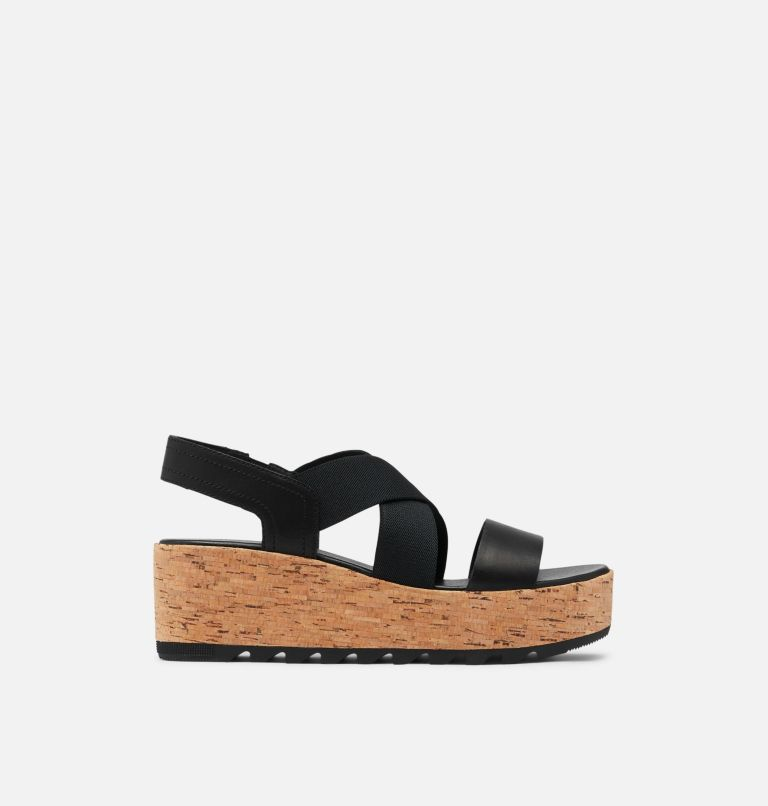 CAMERON™ FLATFORM SLINGBACK | 010 | 5.5 Womens Cameron™ Flatform Slingback Wedge Sandal, Black, front