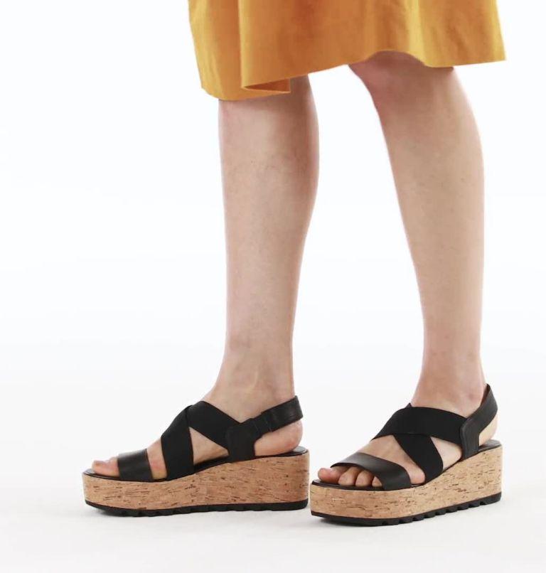 CAMERON™ FLATFORM SLINGBACK | 010 | 5.5 Womens Cameron™ Flatform Slingback Wedge Sandal, Black, video
