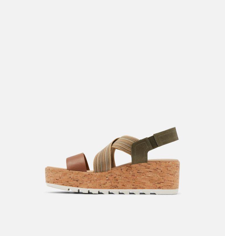 CAMERON™ FLATFORM SLINGBACK   242   5.5 Womens Cameron™ Flatform Slingback Wedge Sandal, Velvet Tan, medial