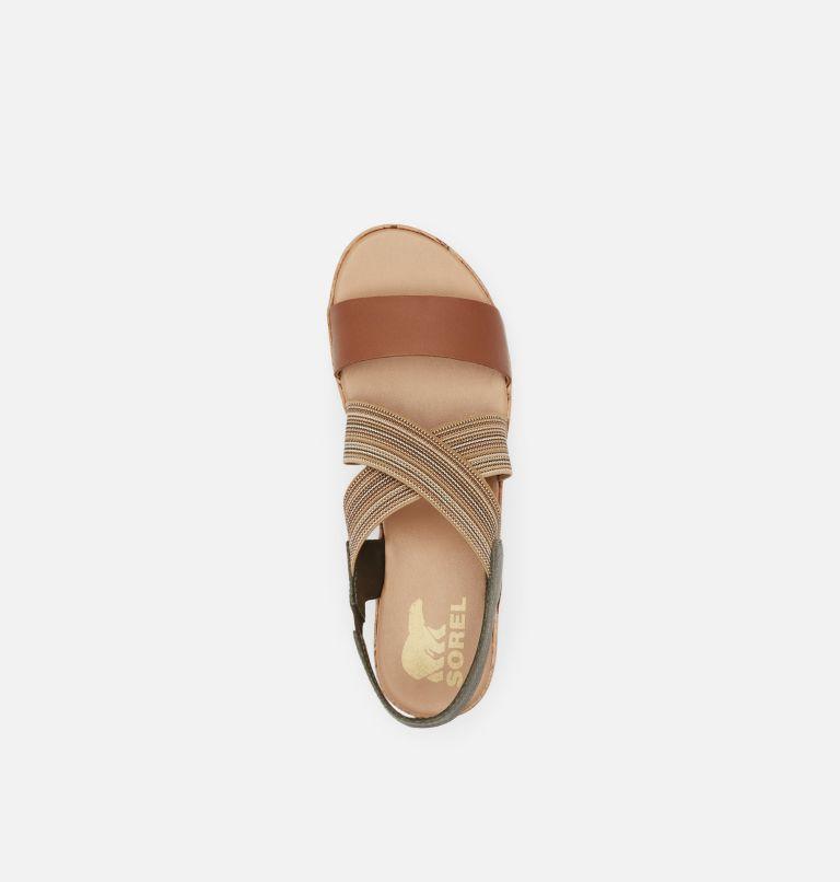 CAMERON™ FLATFORM SLINGBACK   242   5.5 Womens Cameron™ Flatform Slingback Wedge Sandal, Velvet Tan, top