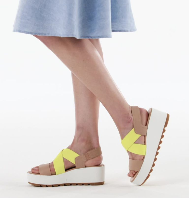 CAMERON™ FLATFORM SLINGBACK | 246 | 11 Womens Cameron™ Flatform Slingback Wedge Sandal, Honest Beige, video