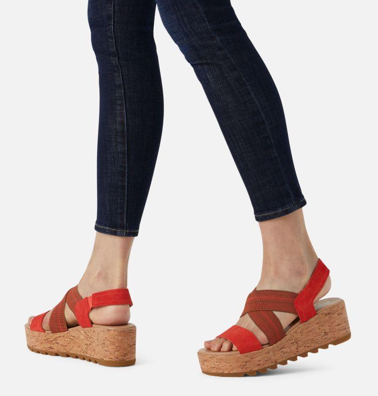 CAMERON™ FLATFORM SLINGBACK | 854 | 11 Womens Cameron™ Flatform Slingback Wedge Sandal, Signal Red, a9