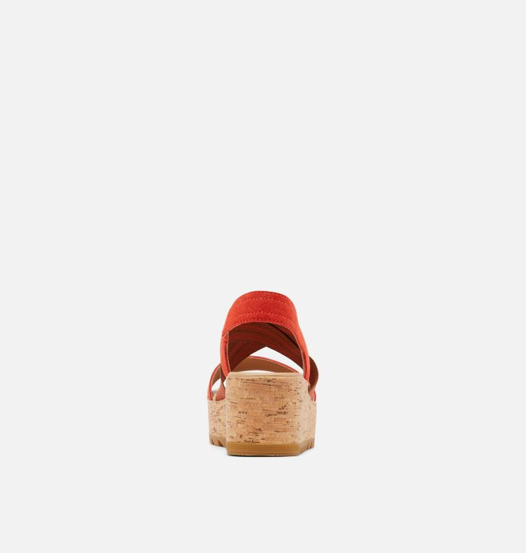 CAMERON™ FLATFORM SLINGBACK | 854 | 10 Womens Cameron™ Flatform Slingback Wedge Sandal, Signal Red, back