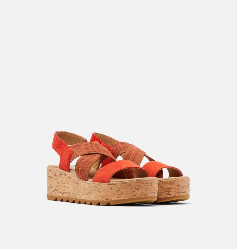 CAMERON™ FLATFORM SLINGBACK | 854 | 11 Womens Cameron™ Flatform Slingback Wedge Sandal, Signal Red, 3/4 front