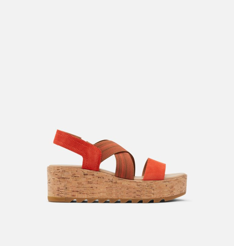 CAMERON™ FLATFORM SLINGBACK | 854 | 10 Womens Cameron™ Flatform Slingback Wedge Sandal, Signal Red, front