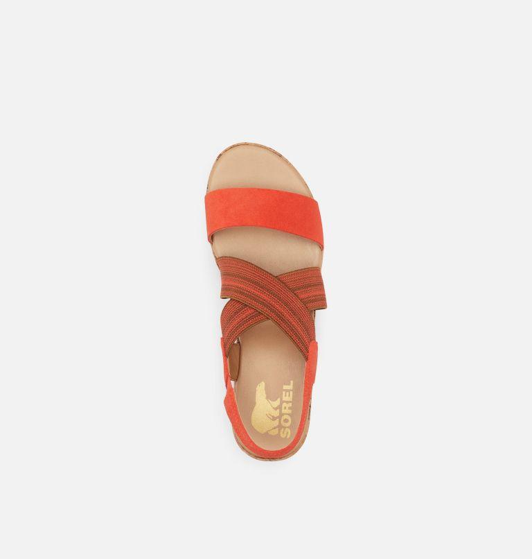CAMERON™ FLATFORM SLINGBACK | 854 | 11 Womens Cameron™ Flatform Slingback Wedge Sandal, Signal Red, top
