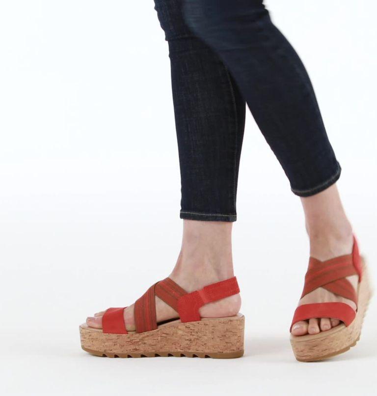 CAMERON™ FLATFORM SLINGBACK | 854 | 5.5 Womens Cameron™ Flatform Slingback Wedge Sandal, Signal Red, video
