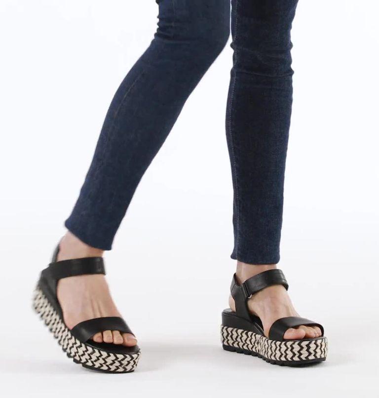 CAMERON™ FLATFORM SANDAL | 010 | 6.5 Women's Cameron™ Flatform Sandal, Black, video