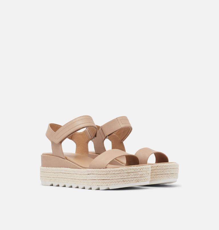 CAMERON™ FLATFORM SANDAL | 246 | 8 Womens Cameron™ Flatform Wedge Sandal, Honest Beige, 3/4 front
