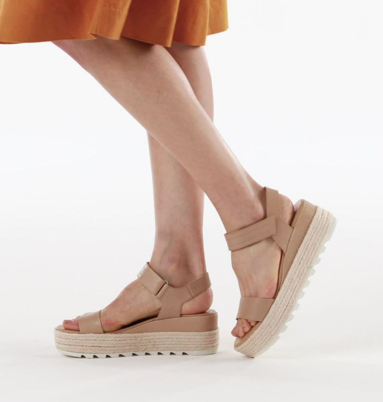 CAMERON™ FLATFORM SANDAL | 246 | 5.5 Womens Cameron™ Flatform Wedge Sandal, Honest Beige, video