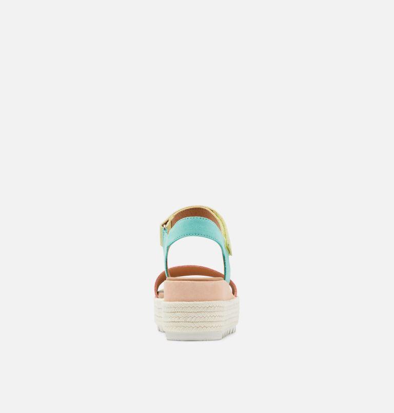 CAMERON™ FLATFORM SANDAL | 810 | 8 Womens Cameron™ Flatform Wedge Sandal, Hot Coral, Sea Salt, back