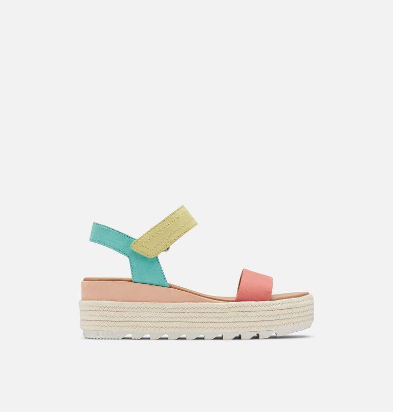 CAMERON™ FLATFORM SANDAL | 810 | 10.5 Womens Cameron™ Flatform Wedge Sandal, Hot Coral, Sea Salt, front