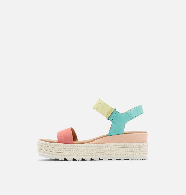 CAMERON™ FLATFORM SANDAL | 810 | 8 Womens Cameron™ Flatform Wedge Sandal, Hot Coral, Sea Salt, medial