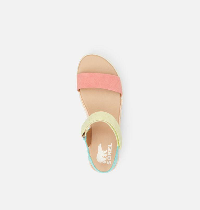 CAMERON™ FLATFORM SANDAL | 810 | 10.5 Womens Cameron™ Flatform Wedge Sandal, Hot Coral, Sea Salt, top