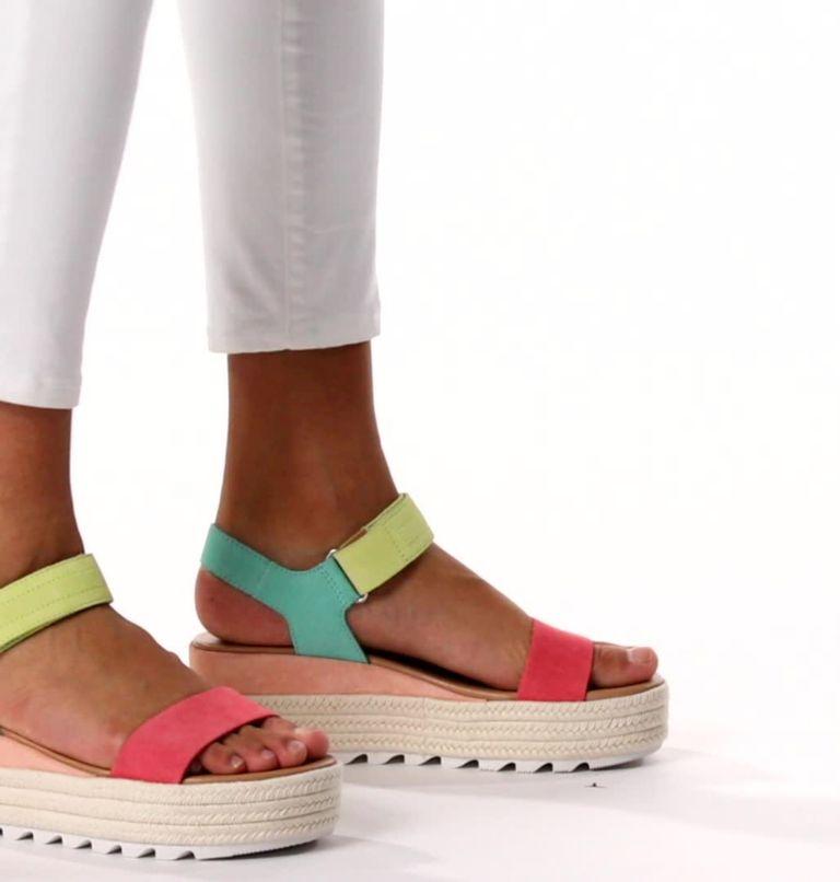 CAMERON™ FLATFORM SANDAL | 810 | 8 Womens Cameron™ Flatform Wedge Sandal, Hot Coral, Sea Salt, video