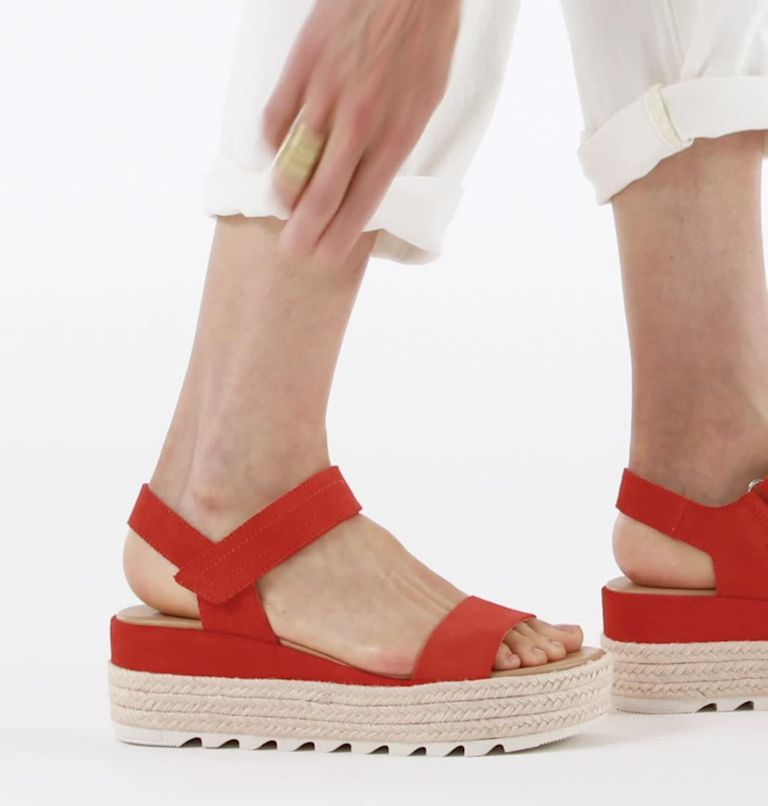 CAMERON™ FLATFORM SANDAL | 854 | 7.5 Womens Cameron™ Flatform Wedge Sandal, Signal Red, video