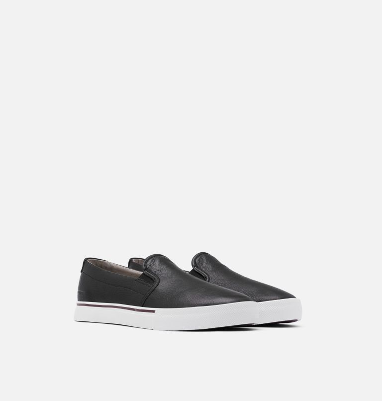 CARIBOU™ SNEAKER SLIP WP   010   8.5 Mens Caribou™ Slip-On Sneaker, Black, 3/4 front