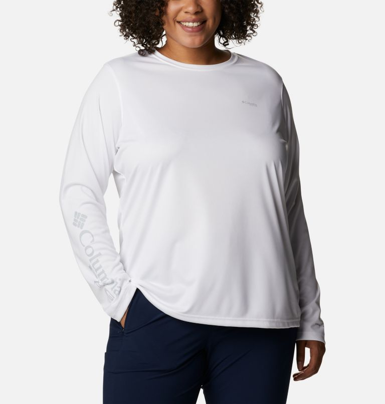 Women's PFG Tidal Tee™ Utility Long Sleeve Shirt - Plus Size Women's PFG Tidal Tee™ Utility Long Sleeve Shirt - Plus Size, front
