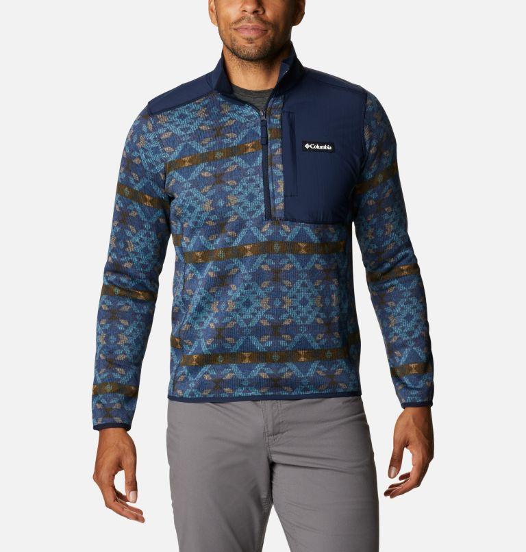 Men's Sweater Weather™ Printed Half Zip Pullover Men's Sweater Weather™ Printed Half Zip Pullover, front