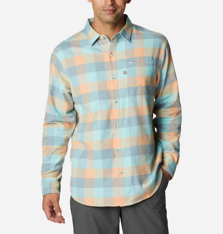 Men's PFG Slack Tide™ Flannel Long Sleeve Shirt Men's PFG Slack Tide™ Flannel Long Sleeve Shirt, front