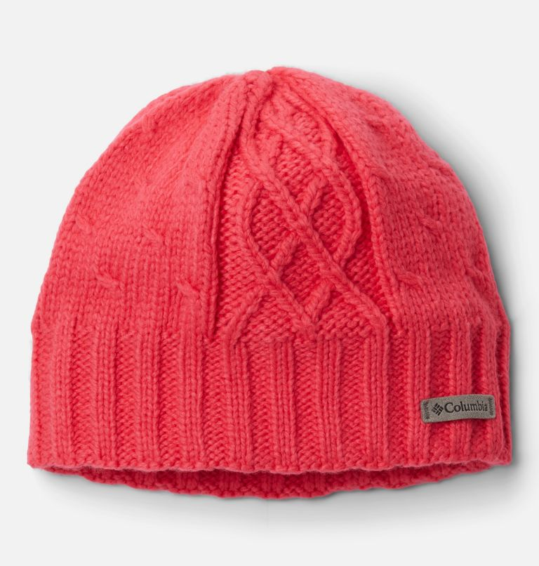 Youth Cabled Cutie™ II Beanie | 673 | O/S Girls' Cabled Cutie™ II Beanie, Bright Geranium, front