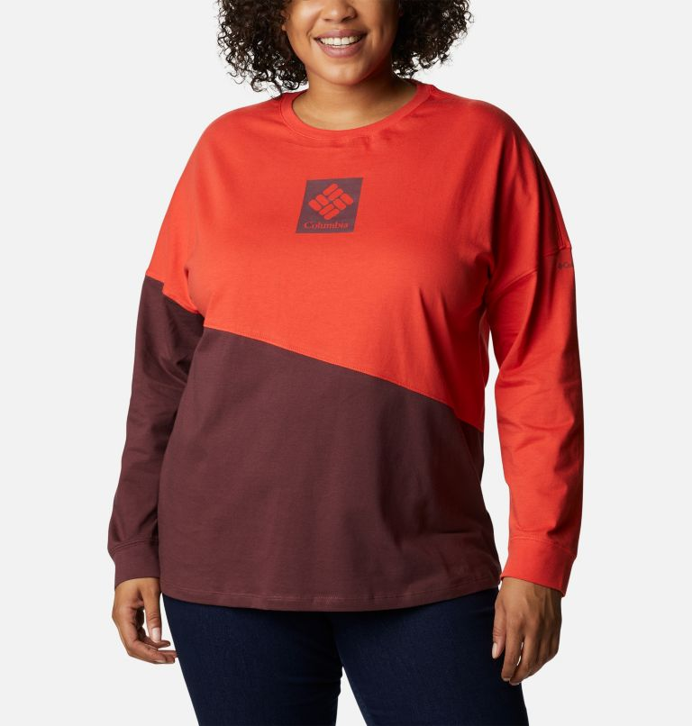 Women's Columbia Park™ Long Sleeve Tee - Plus Size Women's Columbia Park™ Long Sleeve Tee - Plus Size, front