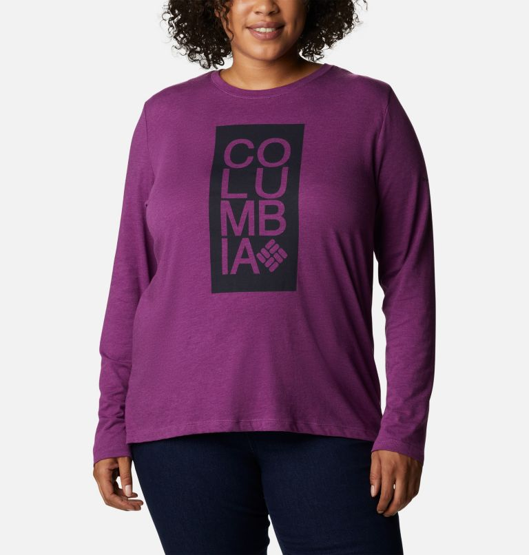 Women's Columbia Trek™ Relaxed Long Sleeve Tee - Plus Size Women's Columbia Trek™ Relaxed Long Sleeve Tee - Plus Size, front