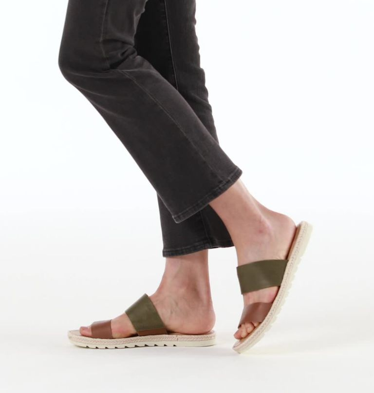 ELLA™ II SLIDE | 242 | 6.5 Womens Ella™ II SIide, Velvet Tan, video