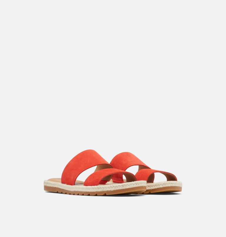 ELLA™ II SLIDE | 854 | 9 Womens Ella™ II Slide, Signal Red, 3/4 front