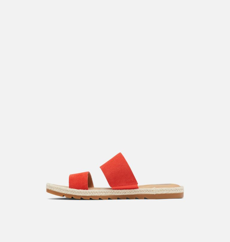 ELLA™ II SLIDE | 854 | 9 Womens Ella™ II Slide, Signal Red, medial