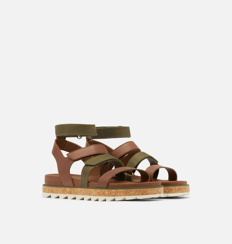 ROAMING™ MULTI STRAP | 242 | 9.5 Womens Roaming™ Multi Strap Sandal, Velvet Tan, 3/4 front