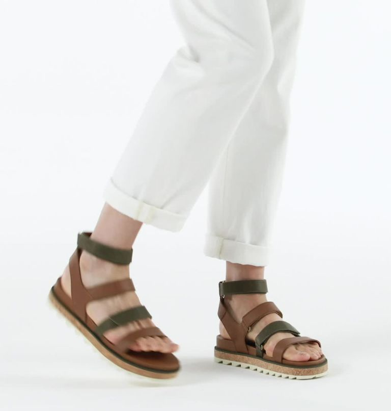 ROAMING™ MULTI STRAP | 242 | 9.5 Womens Roaming™ Multi Strap Sandal, Velvet Tan, video