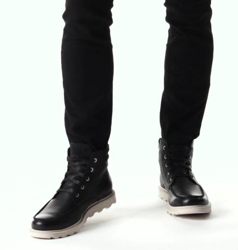 MADSON™ II MOC TOE WP | 010 | 13 Men's Madson™ II Moc Toe Boot, Black, Dark Stone, video