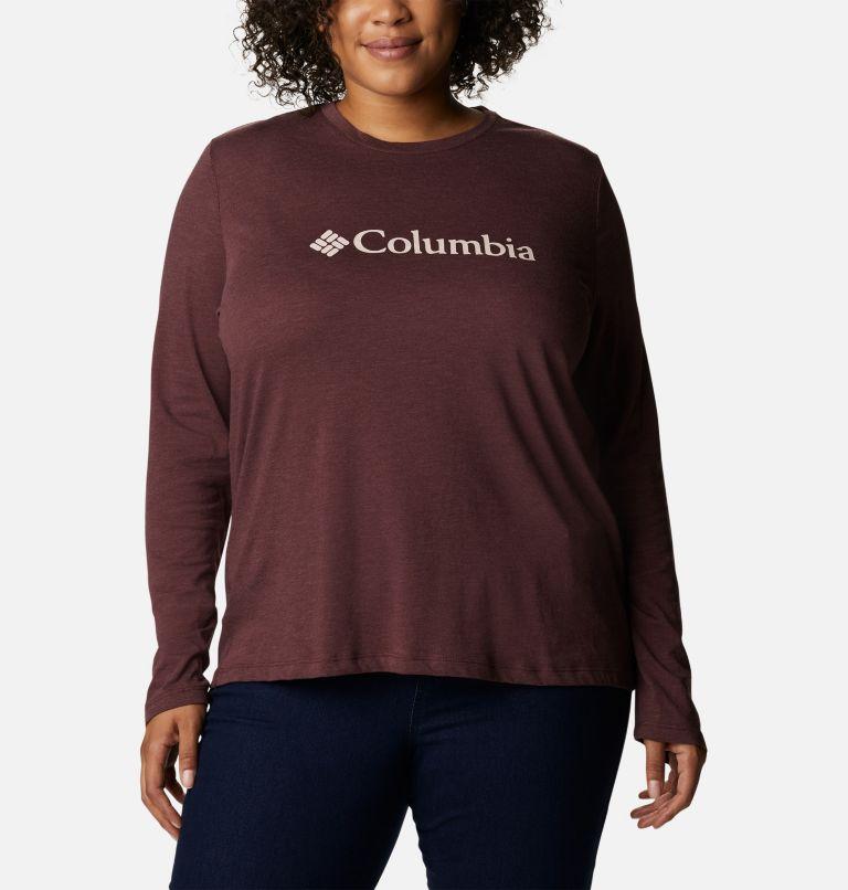 Women's Columbia Lodge™ Relaxed Long-Sleeve Tee - Plus Size Women's Columbia Lodge™ Relaxed Long-Sleeve Tee - Plus Size, front