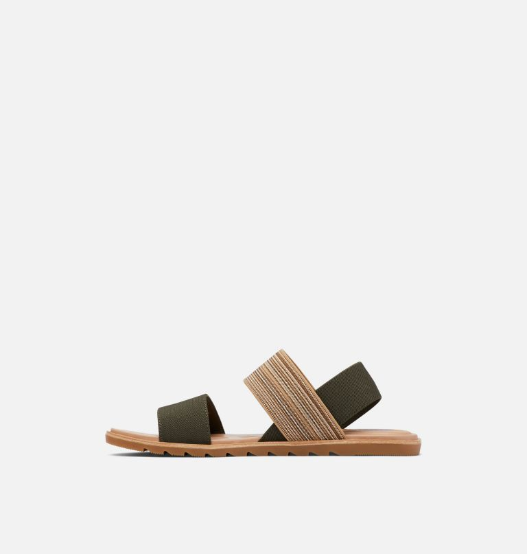 ELLA™ II TWO STRAP | 319 | 8.5 Womens Ella™ II Two Strap Sandal, Olive Green, Gum, medial