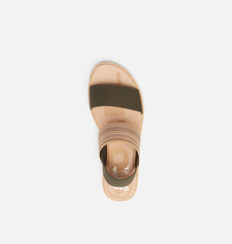 ELLA™ II TWO STRAP | 319 | 6.5 Womens Ella™ II Two Strap Sandal, Olive Green, Gum, top