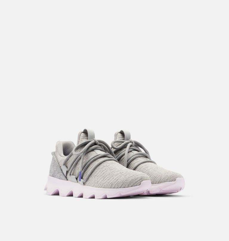 KINETIC™ LACE | 081 | 10.5 Womens Kinetic™ Lace Sneaker, Dove, 3/4 front
