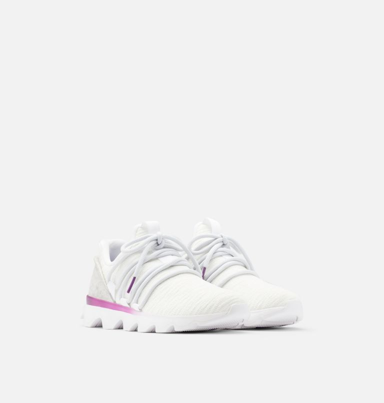 KINETIC™ LACE | 100 | 6 Womens Kinetic™ Lace Sneaker, White, 3/4 front