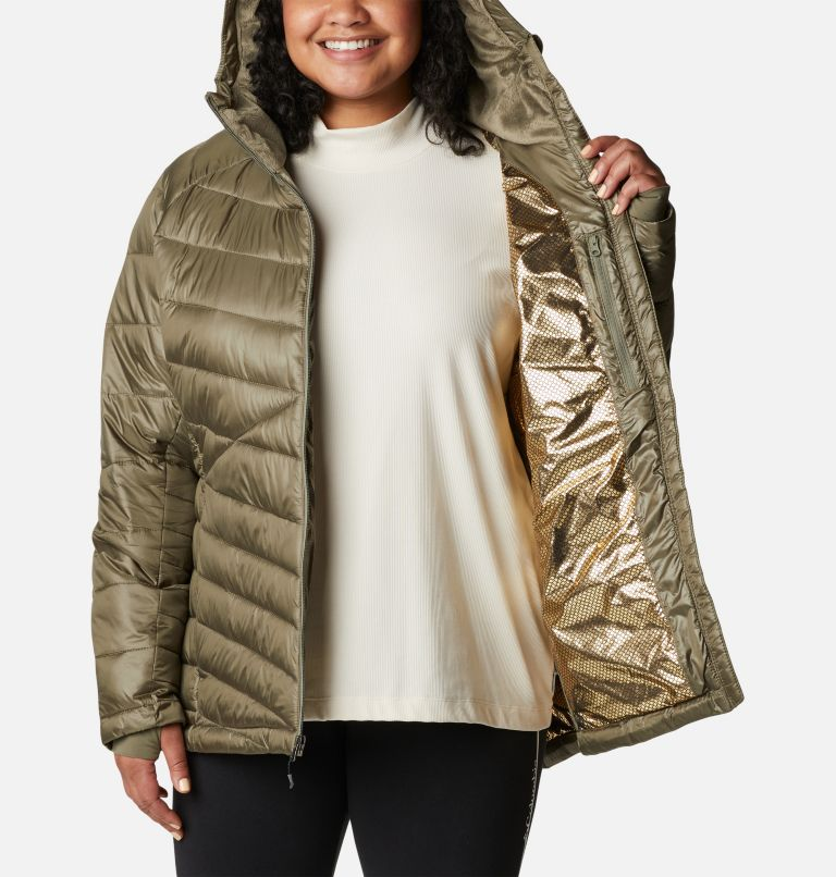 Women's Joy Peak™ Omni-Heat™ Infinity Insulated Hooded Jacket - Plus Size Women's Joy Peak™ Omni-Heat™ Infinity Insulated Hooded Jacket - Plus Size, a3