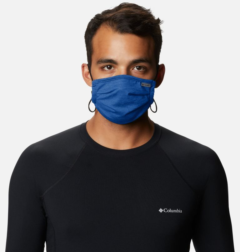 Tech Trail™ Face Mask | 437 | O/S Tech Trail™ Face Mask, Azul Heather, a2