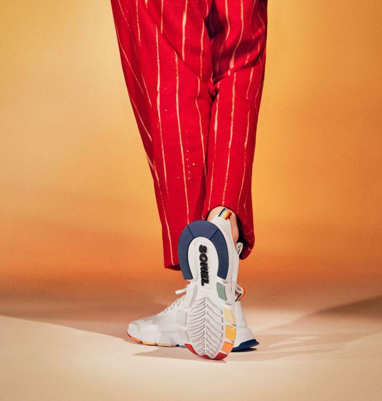KINETIC™ RUSH | 100 | 7.5 Womens Kinetic™ Rush Sneaker, White, White, 3/4 front