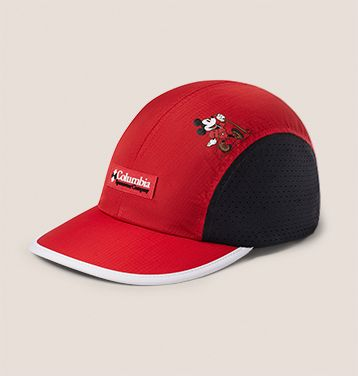A trail ballcap inspired by Mickey Mouse.