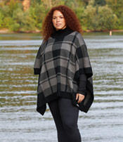 A woman in plus size Columbia gear.